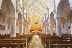 BETLEJEM IZRAEL, MARZEC, - 6, 2015: Nave St Catharine kościół Obrazy Stock