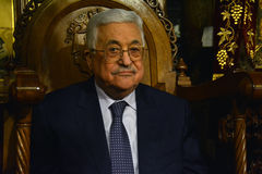 Betlejem, Palestyna Styczeń 7th 2017: Palestyński prezydent, M Fotografia Royalty Free