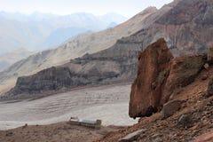 Betlemi Hut near Kazbek Mount (Georgia) Royalty Free Stock Photo