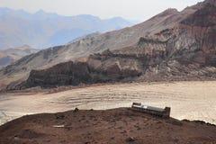 Betlemi Hut near Kazbek Mount (Georgia) Stock Images