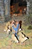 Betlemme, il pastore con le pecore Fotografie Stock