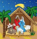 Betlemme nel paesaggio di notte Illustrazione di Stock