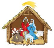 Betlemme su fondo bianco 02 Illustrazione di Stock