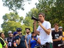 Beto Ο ` Rourke που τρέχει για τη Σύγκλητο του Τέξας Στοκ Εικόνες
