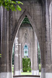 Betonów poparcia gothic most Obrazy Royalty Free