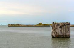 Betonów statki Obraz Royalty Free