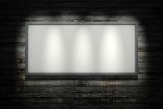 beton广告牌墙壁 库存例证