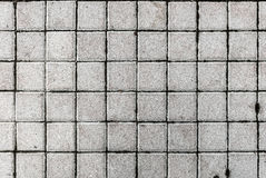 Beton of cobble grijze bestratingsplakken of stenen Royalty-vrije Stock Foto's