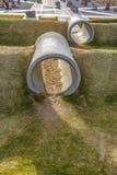 Beton drymby na boisku w brzasku Utah zdjęcie stock