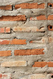 Beton en bakstenen muurtextuur Stock Foto's