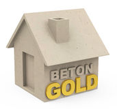 Beton gold Royalty Free Stock Images