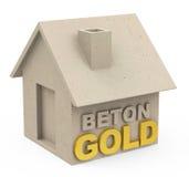 Beton gold Royalty Free Stock Photos