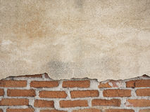 Beton i ściana z cegieł dla tła Obrazy Stock