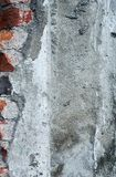 Beton mit Ziegelsteinwandbeschaffenheit Stockfotos
