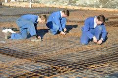 Beton nalewa przygotowanie Fotografia Royalty Free