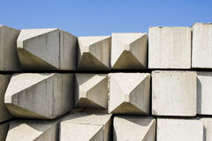 Beton pile. Strong beton piles in the open air Stock Photography
