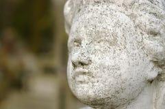Beton rzeźbiąca twarz anioł Fotografia Stock