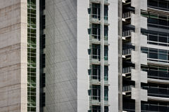 Beton und Glas Stockfoto