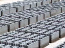 Betonblöcke - Grau Stockfoto