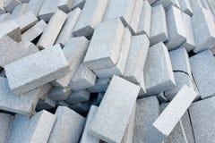 Betonblöcke oder Ziegelsteine Stockfotografie