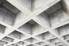Betonconstructieplafond Stock Fotografie