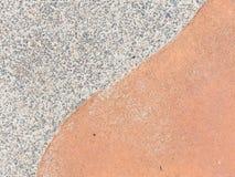 Betondecke in zwei Farben Lizenzfreie Stockfotos