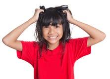 Betonen Sie heraus junges asiatisches Mädchen I lizenzfreies stockfoto
