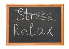 Betonen Sie und entspannen Sie sich Lizenzfreies Stockfoto