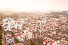 Betong区鸟瞰图  这个区在南部 免版税库存图片