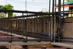 Betong för förstärkning för stålstång Royaltyfri Bild