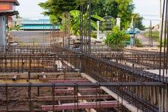 Betong för förstärkning för stålstång Arkivfoton