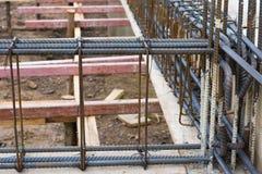 Betong för förstärkning för stålstång Royaltyfri Foto