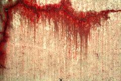 Betong med röda fläckar Arkivbild