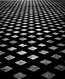 Betongfyrkanter texturerade bakgrund svart white Arkivbilder