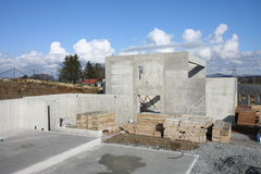 betonggrundhus Arkivbilder