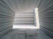 Betongkorridor för arkitektonisk design Arkivbilder