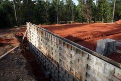betongvägg för 3 källare royaltyfri foto