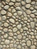 Betongvägg med kiselstenar Fotografering för Bildbyråer