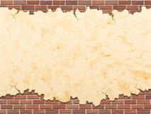 Betongvägg och bakgrund för tegelstenvektorgrunge Royaltyfri Foto