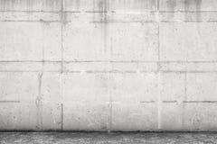 Betongvägg och golv, främre sikt Arkivbild
