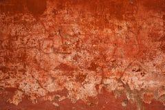 Betongväggar för grov yttersida abstrakt bakgrundsred Royaltyfria Bilder