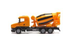 Betoniera del camion giallo Fotografie Stock