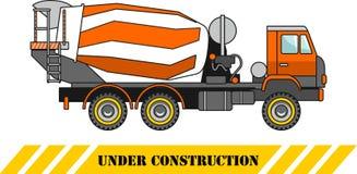 Betoniera Macchine della costruzione pesante Illustrazione di vettore Immagine Stock Libera da Diritti