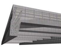 Betonkonstruktion 3d Lizenzfreies Stockbild