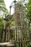 Betonkonstruktion bei Edward James arbeitet in Xilitla Mexiko im Garten lizenzfreies stockbild