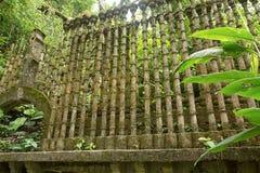 Betonkonstruktion bei Edward James arbeitet Xilitla Mexiko im Garten lizenzfreie stockfotos