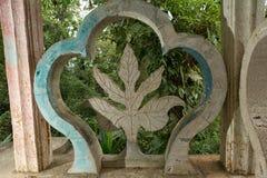 Betonkonstruktionsdetail bei Edward James arbeitet Xilitla Mexiko im Garten lizenzfreie stockfotografie