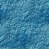 Betonmauer der blauen Farbe tropft raue Oberfläche Stockfoto