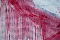 Betonmauer, Flecke der roten Farbe, Graffiti Lizenzfreie Stockbilder