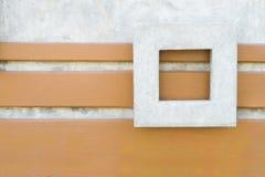 Betonmauer mit quadratischem Rahmenhintergrund Stockfotografie